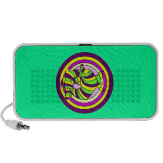 Lifesaver Dolphins into the swirl Bullseye iPod Speaker