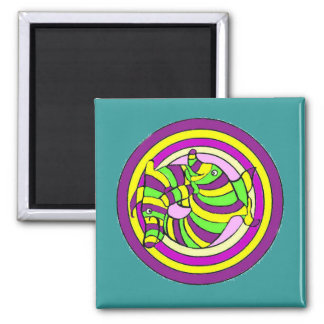 Lifesaver Dolphins into the swirl Refrigerator Magnet