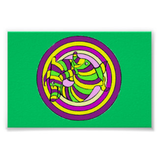 Lifesaver Dolphins into the swirl Poster
