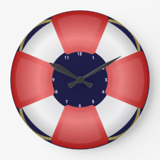 lifesaver lifebuoy nautical clock