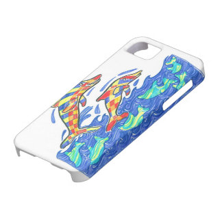 Lifesaver Rainbow Dolphins iPhone 5 Case