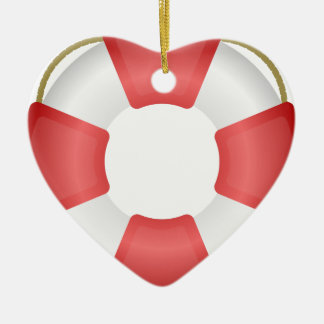 Lifesaver Ring Ceramic Ornament
