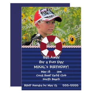 Lifesaver Ring Nautical Birthday Party Card
