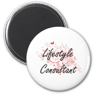 Lifestyle Consultant Artistic Job Design with Butt 6 Cm Round Magnet