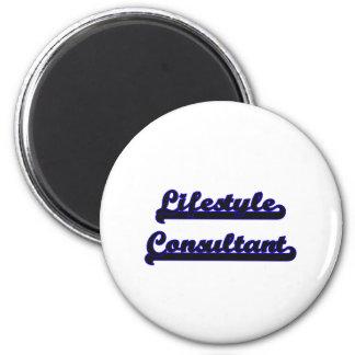 Lifestyle Consultant Classic Job Design 6 Cm Round Magnet