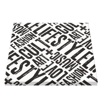 LIFESTYLE FASHION CULT - black Canvas Print