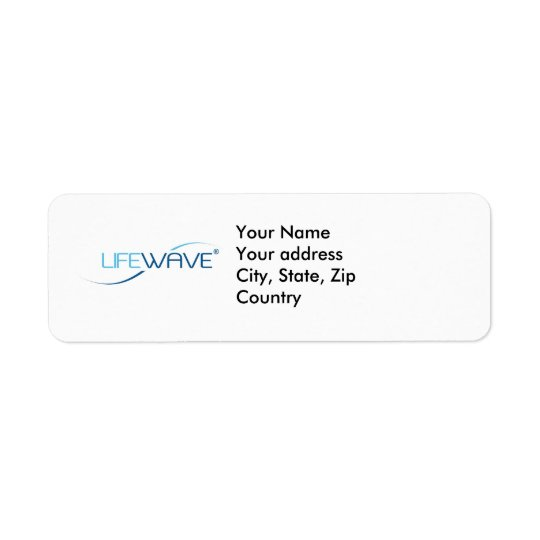 LifeWave Return Address Label