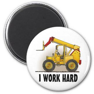 Lift Construction Round Magnet I Work