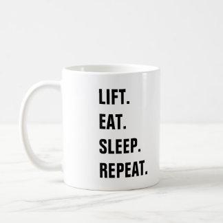 Lift. Eat. Sleep. Repeat. Coffee Mug