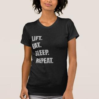 Lift Eat Sleep Repeat Tees