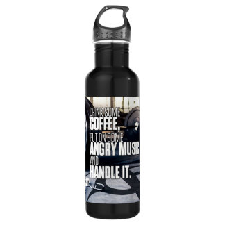 Lift Heavy Inspiration - Coffee and Angry Music 710 Ml Water Bottle