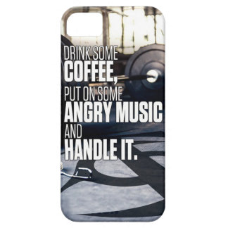 Lift Heavy Inspiration - Coffee and Angry Music Case For The iPhone 5