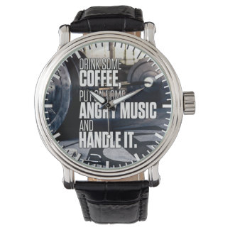 Lift Heavy Inspiration - Coffee and Angry Music Watch