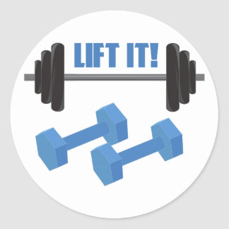 Lift It! Classic Round Sticker