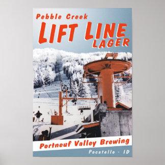 Lift Line Lager Poster