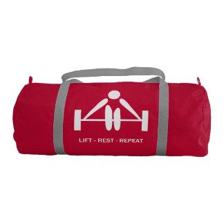 Lift Rest Repeat Lifting Gym Duffel Bag