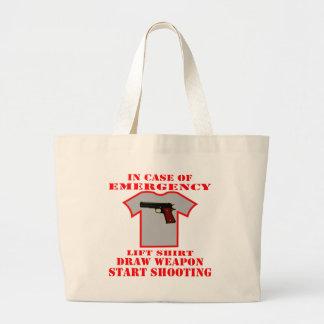 Lift Shirt Draw Weapon Start Shooting Jumbo Tote Bag