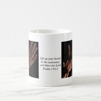 Lift Up Your Hands Basic White Mug