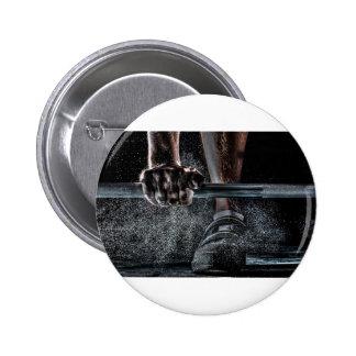 Lift Weights 2 6 Cm Round Badge