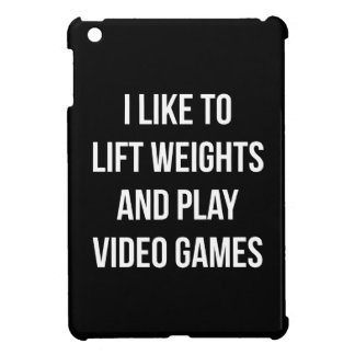 Lift Weights and Play Video Games - Gaming Workout Cover For The iPad Mini