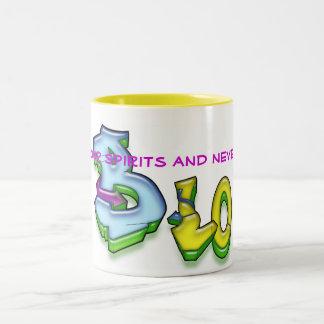 Lift Your Spirits and Never B Lo Two-Tone Coffee Mug