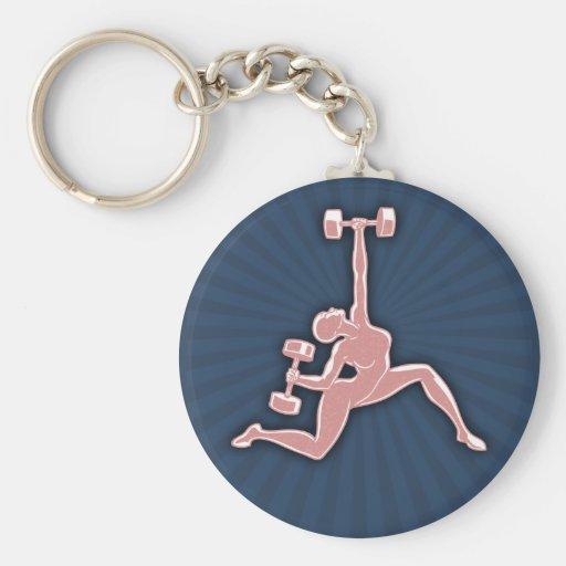 Lifting Lady Key Chains