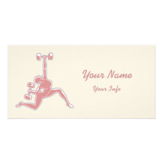 Lifting Lady Picture Card
