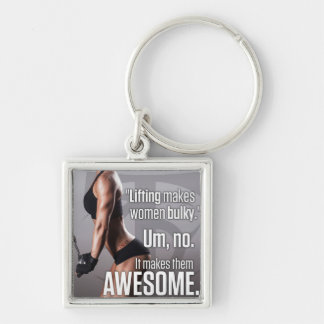 Lifting Makes Women Awesome - Workout Motivational Key Ring
