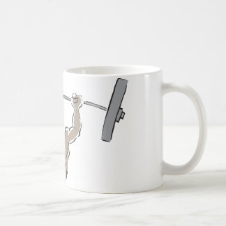 Lifting Weights Basic White Mug