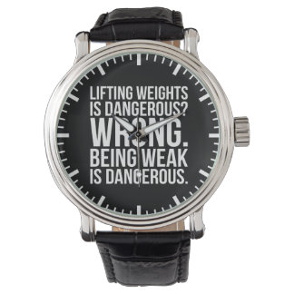 Lifting Weights Is Dangerous vs Being Weak - Gym Watch