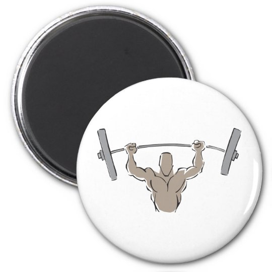 Lifting Weights Magnet