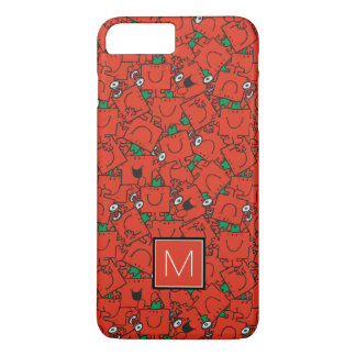 Lifting Weights Red & Green Pattern   Monogram iPhone 8 Plus/7 Plus Case