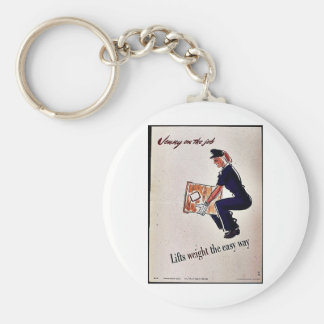 Lifts Weight The Easy Way Keychain