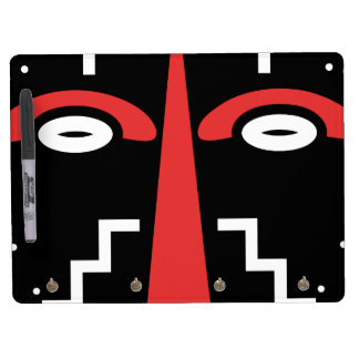 Ligbi Mask Dry Erase Board With Key Ring Holder