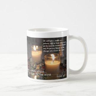 Light A Candle Basic White Mug
