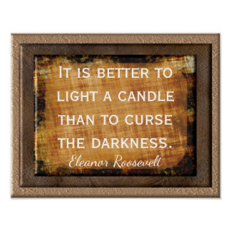 Light a Candle Print -- quote Eleanor Roosevelt