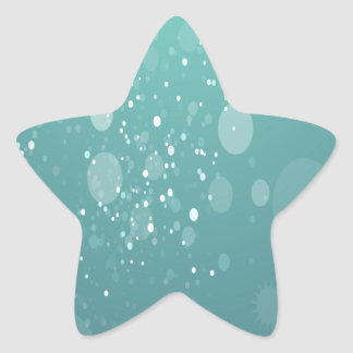 Light Abstract Blue Art Star Sticker