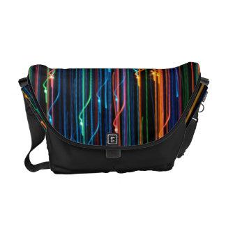 Light abstract messenger bag
