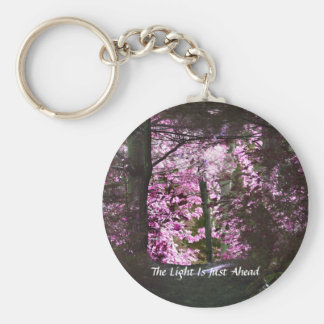 Light Ahead On Path Inspirational Keychain