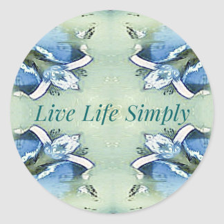 Light Airy 'Live Life Simply Lifestyle Classic Round Sticker