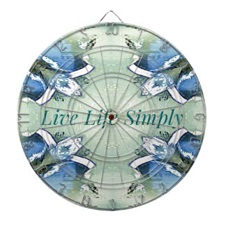 Light Airy 'Live Life Simply Lifestyle Dartboard