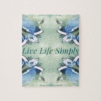 Light Airy 'Live Life Simply Lifestyle Jigsaw Puzzle