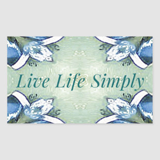 Light Airy 'Live Life Simply Lifestyle Rectangular Sticker