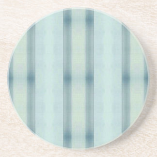 Light Airy Soft pastel Teal Striped Pattern Coaster