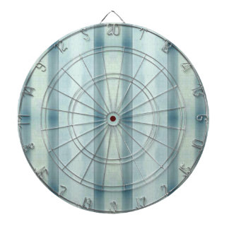 Light Airy Soft pastel Teal Striped Pattern Dartboard
