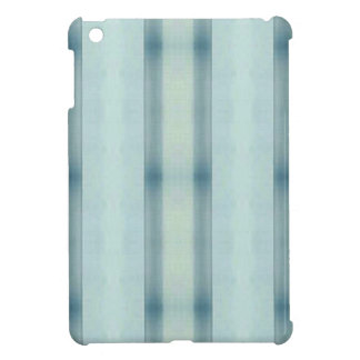 Light Airy Soft pastel Teal Striped Pattern iPad Mini Case