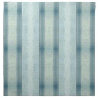 Light Airy Soft pastel Teal Striped Pattern Napkin
