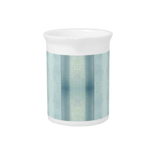 Light Airy Soft pastel Teal Striped Pattern Pitcher