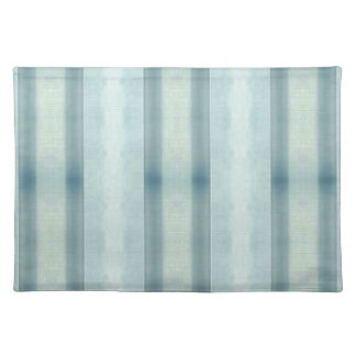 Light Airy Soft pastel Teal Striped Pattern Placemat