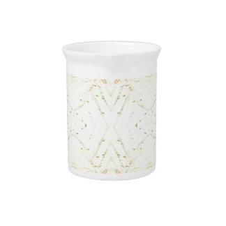 Light Airy White Yellow Background Pattern Drink Pitcher